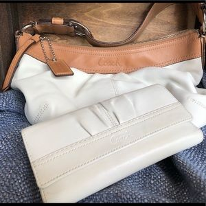 Coach Leather Handbag and Wallet